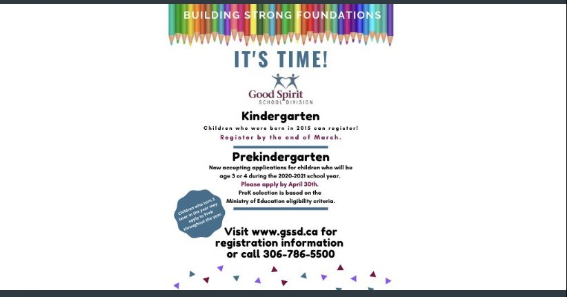 Pre-Kindergarten and Kindergarten Registration for the Fall of 2020