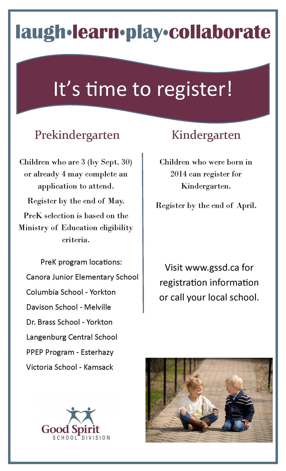 Pre Kindergarten and Kindergarten Registration