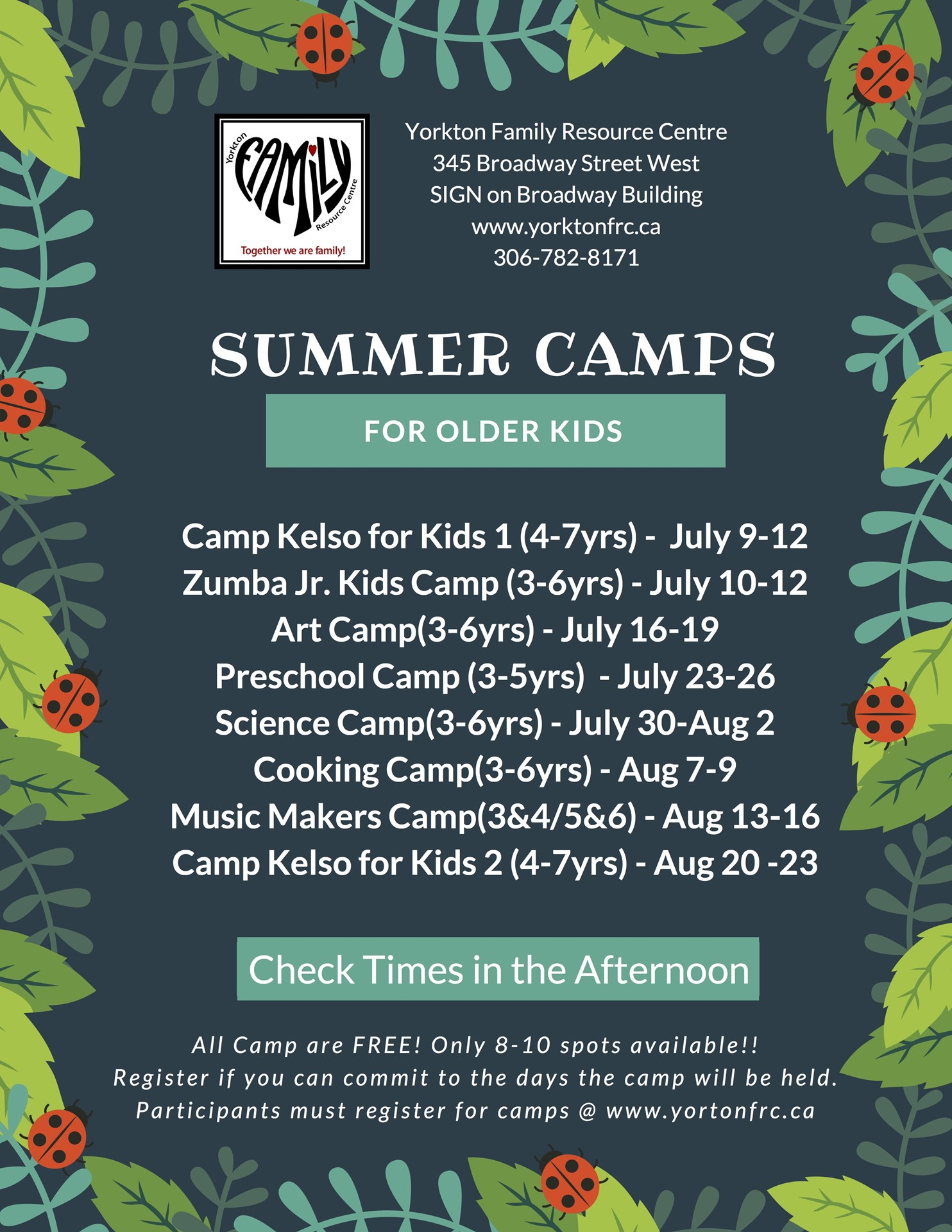 Yorkton Family Resource Centre Summer Camps