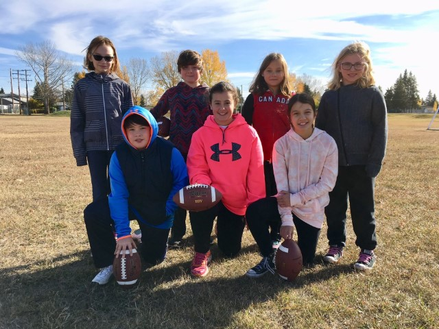 These 7 students represented Columbia School at the Regional Pass, Punt & Kick Competition in Melville on October 5th. Congratualtions to 4 of them who have qualified for Provincial Competition in Regina on October 28th. Rise and Shout for a job well done