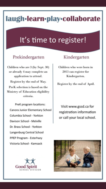 Fall of 2018-2019 Prekindergarten and Kindergarten Registration