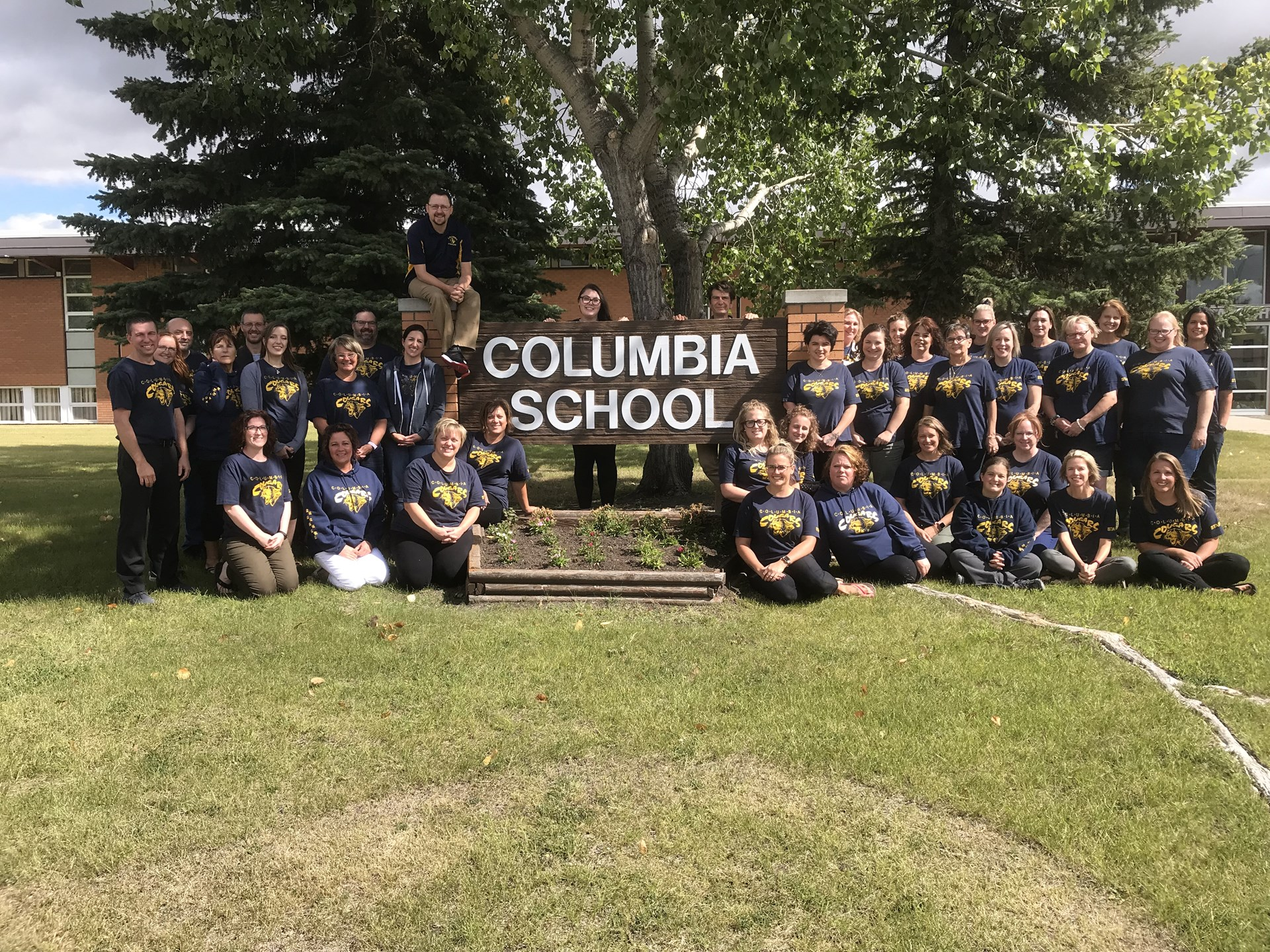 Group Columbia School Staff