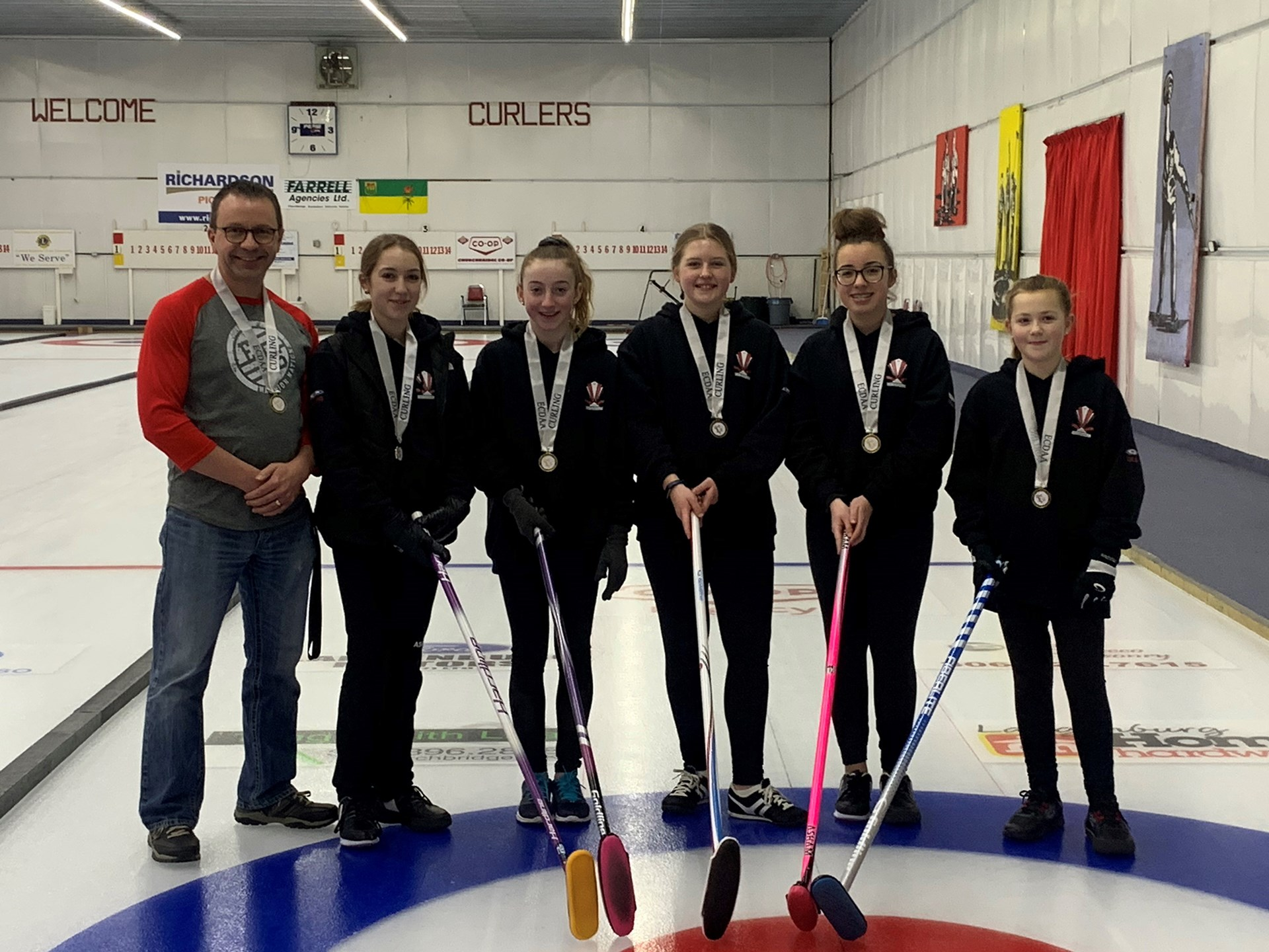 Junior Girls Curling - District Gold Medal Champions