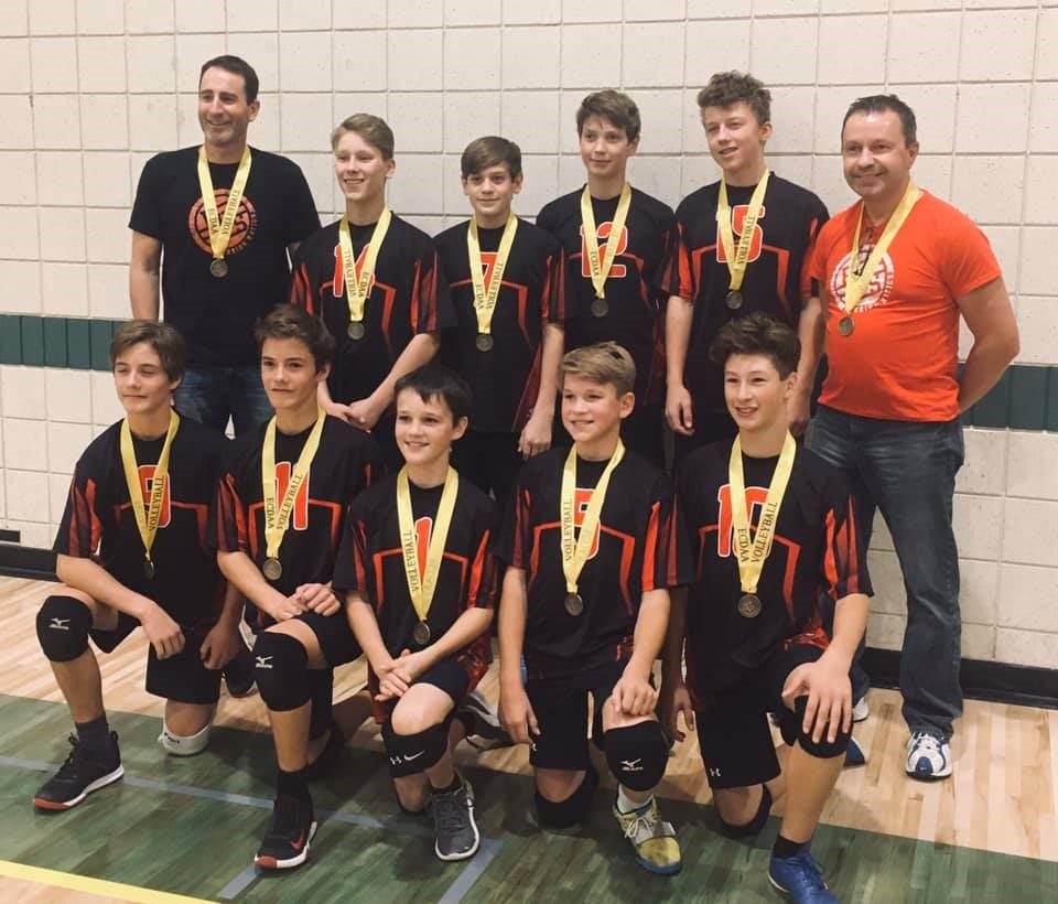Junior Boys Volleyball - District Bronze Medal Winners