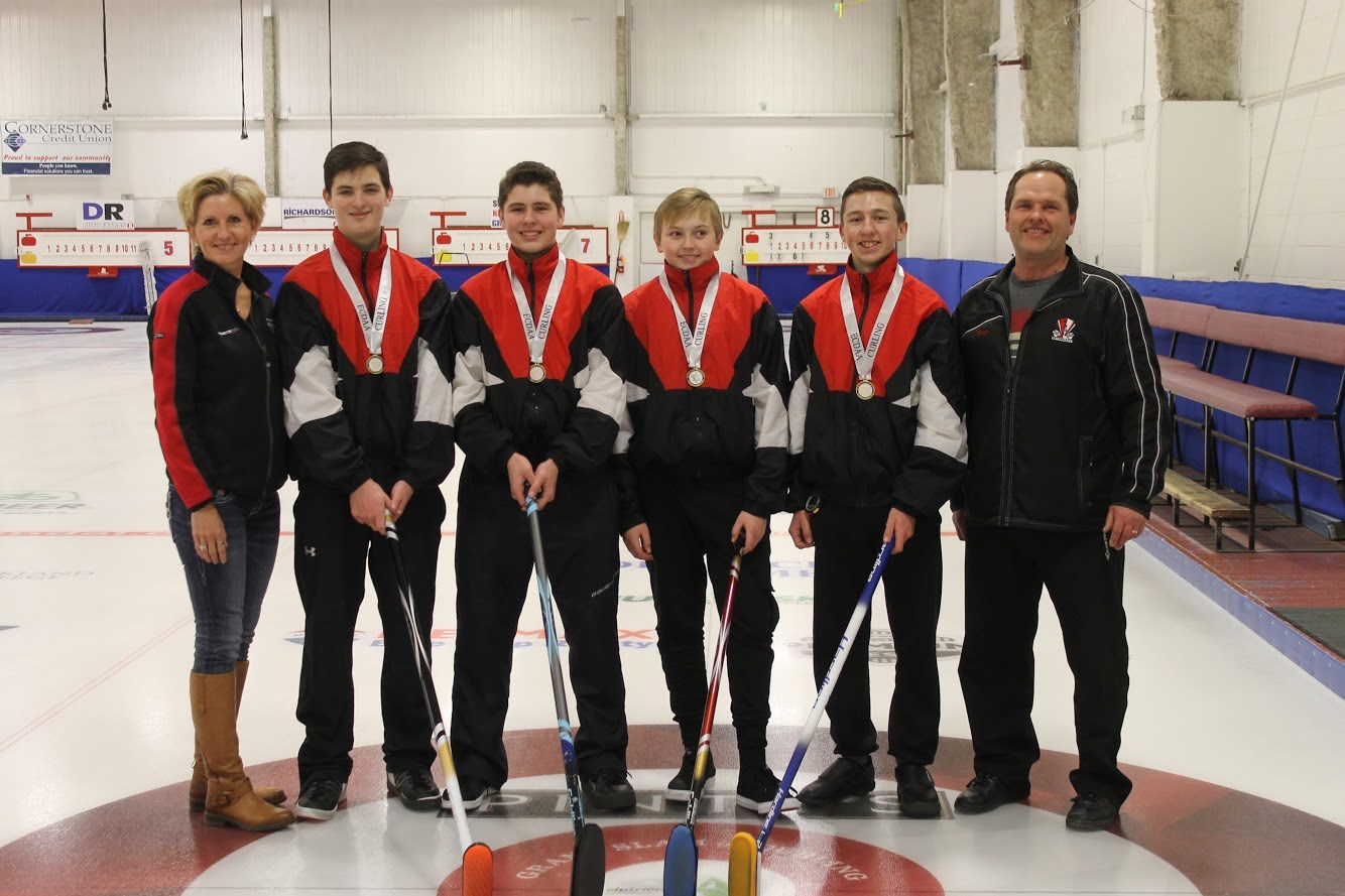Senior Boys Curling - District Silver Medal Winners