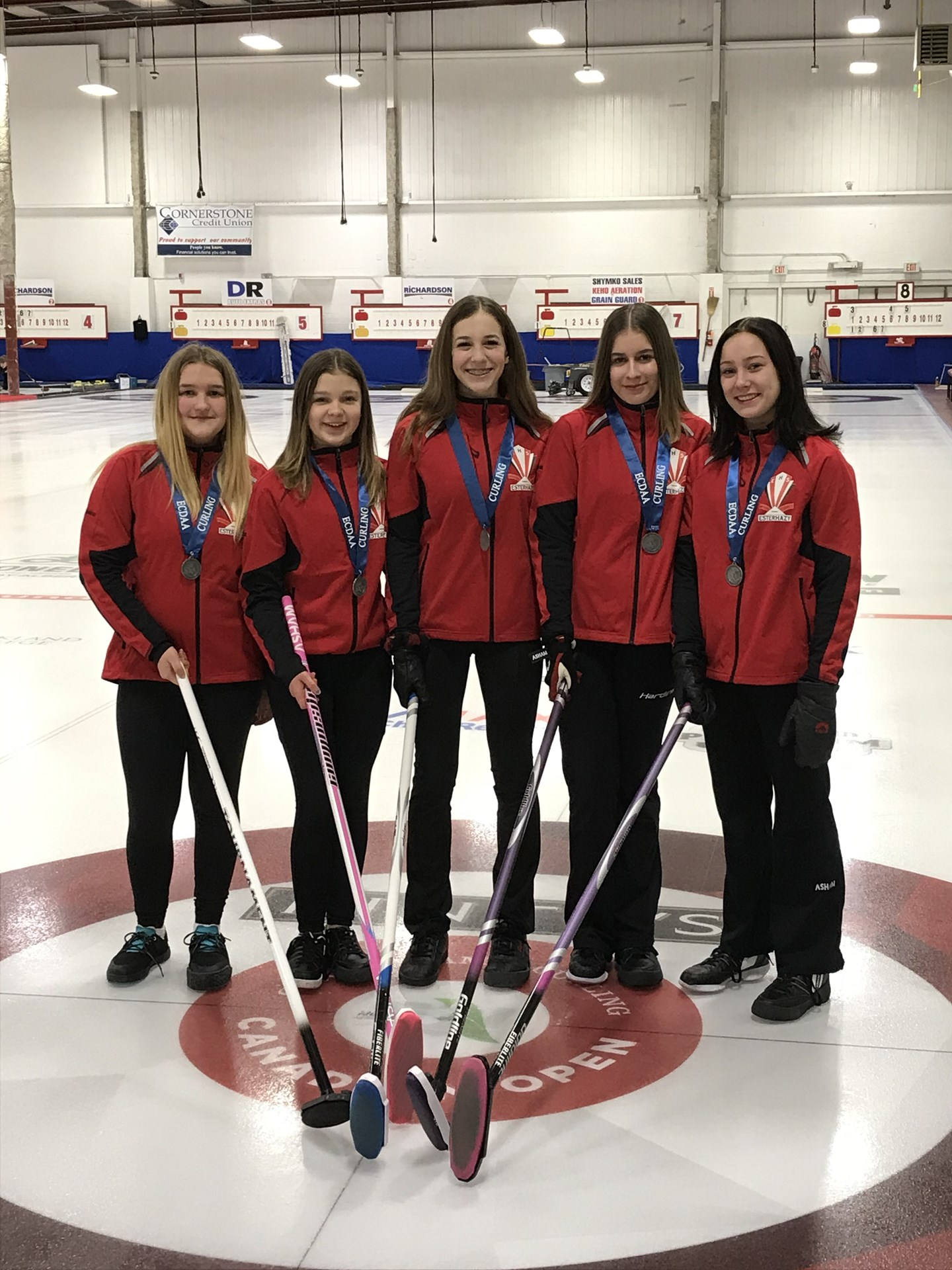 Senior Girls Curling - District Bronze Medal Winners