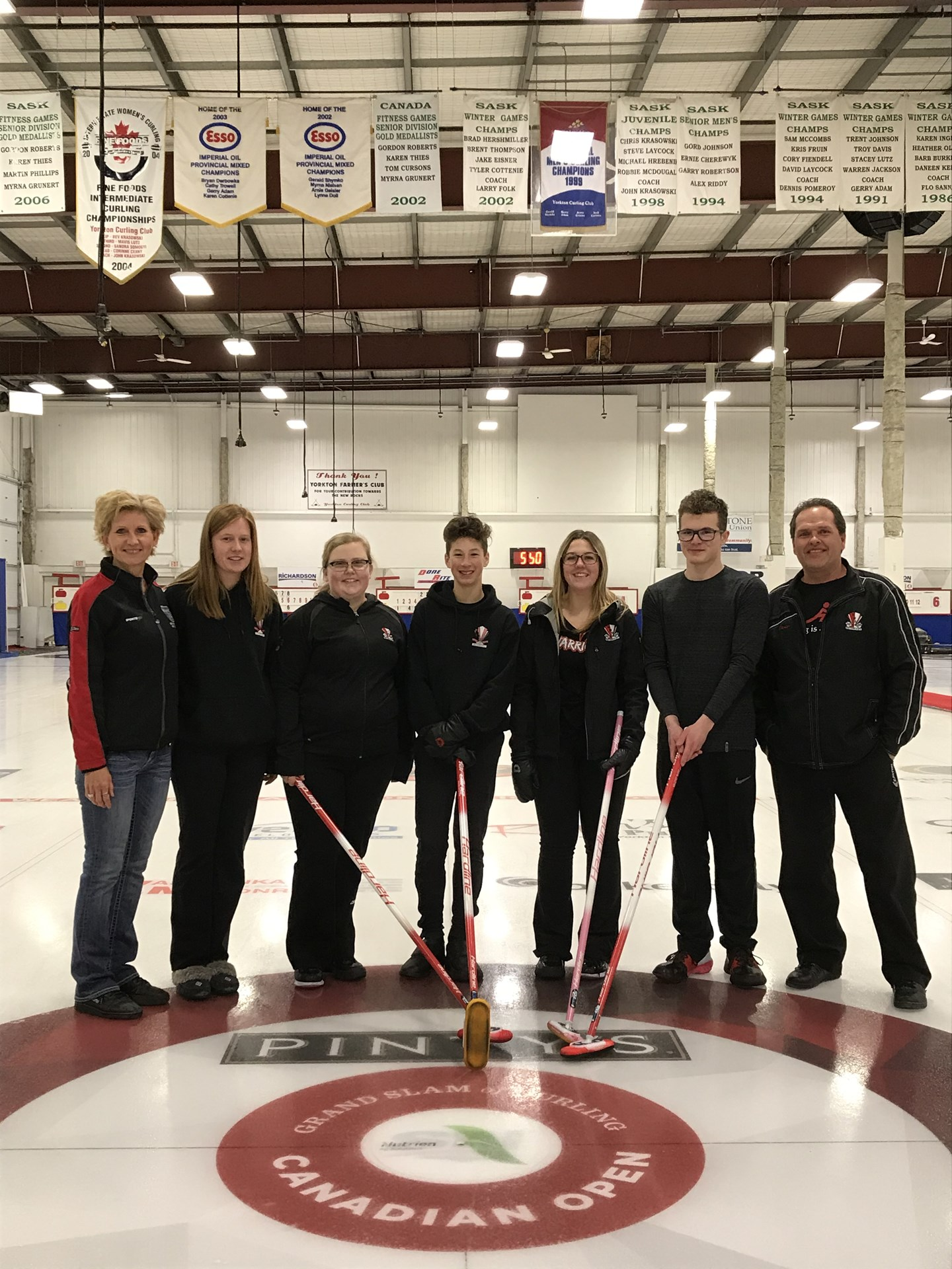 Senior Mixed Curling - District Bronze Medal Winners