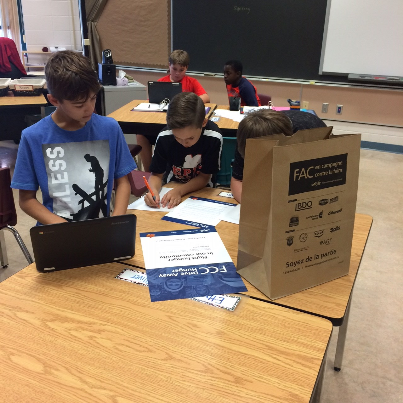 Student Learning: FCC Drive Away Hunger