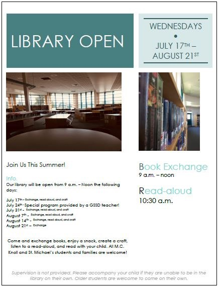Summer Reading: Library Open!
