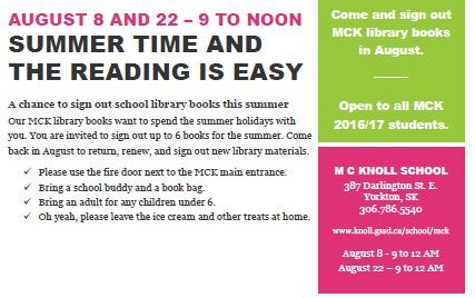 Library open this summer!