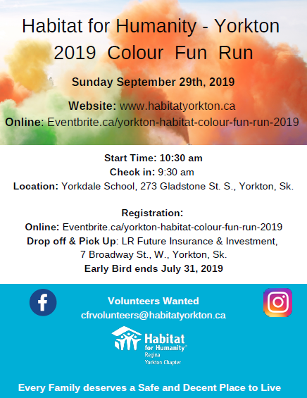 Habitat for Humanity's Colour Run 2019
