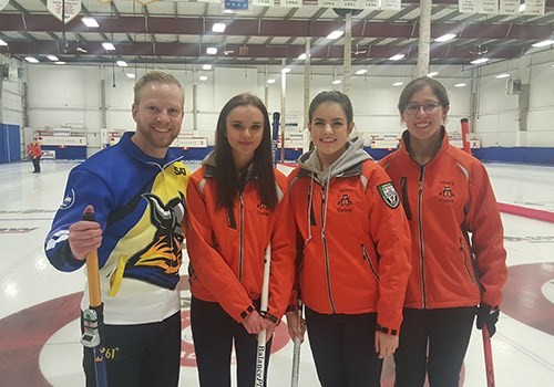 YRHS Curling Team Meets World Champion