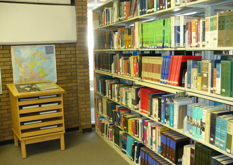 The fiction collection, located near the rear of the library, contains  French fiction (FRF), hardcover fiction (FIC), paperback fiction (PB), ...