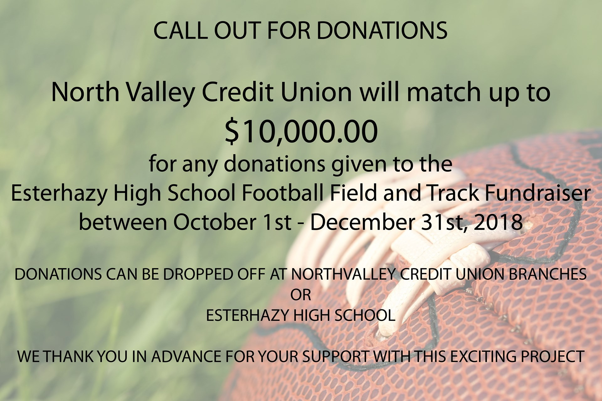 North Valley Credit Union Donation Drive